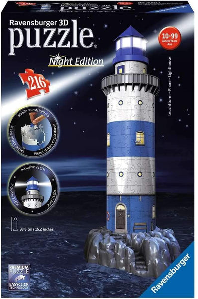 Faro del porto | Night Edition - Puzzle 3D