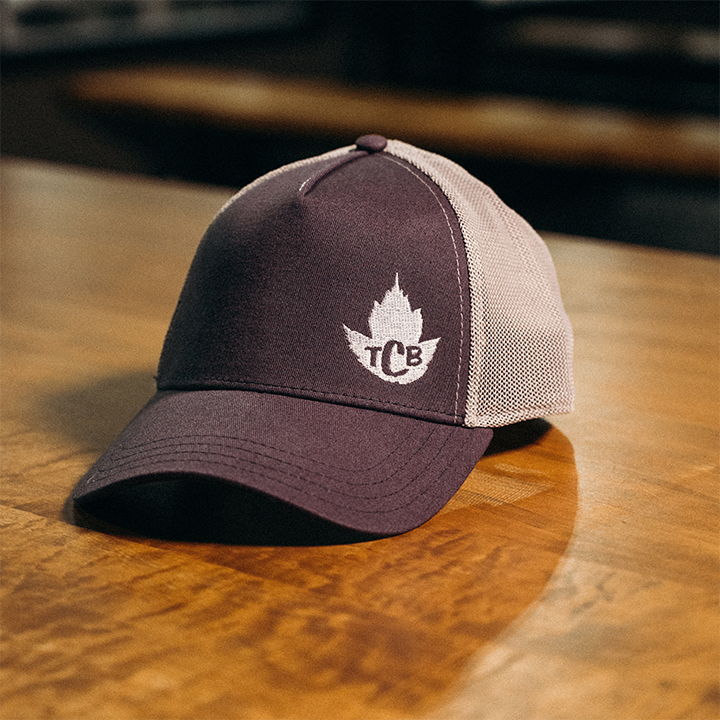 TCB Trucker Hat - Distressed Navy with Grey Mesh