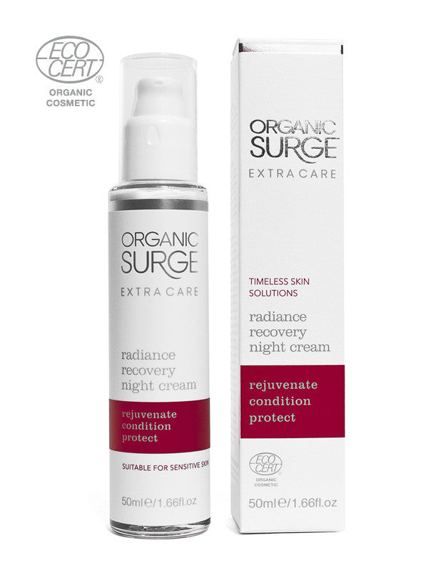 Organic Surge Radiance Recovery Night Cream Enriched with Safflower Oil