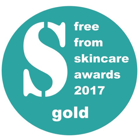 Gold award from Free From Skin Care 2017