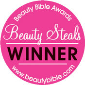 Winner of award badge from Beauty Bible