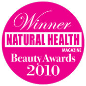 Award badge from Natural Health Magazine 2010
