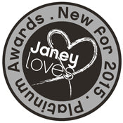 Award badge from Janey Loves new for 2015
