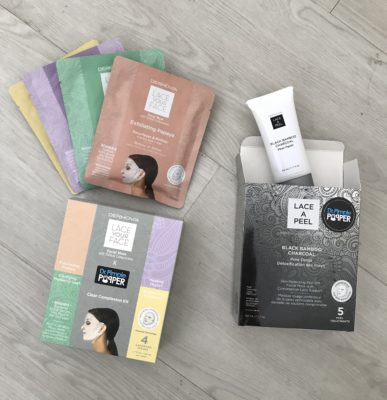 Dr. Pimple Popper x Dermovia Clear Complexion Kit ($55,  drpimplepopper.com ) & Dr. Pimple Popper x Lace A Peel Black Bamboo Charcoal Peel Off Mask ($55,  drpimplepopper.com )