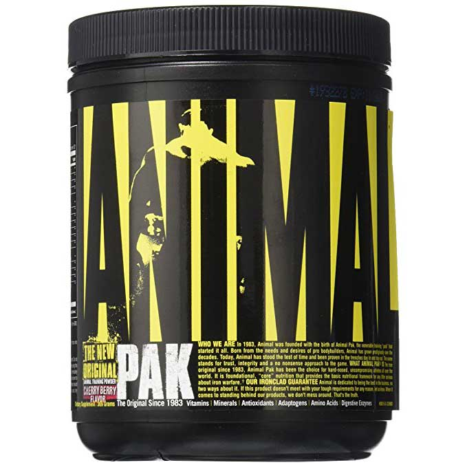 Universal Nutrition Animal Pak Powder, 44 Scoops Cherry Berry Flavor