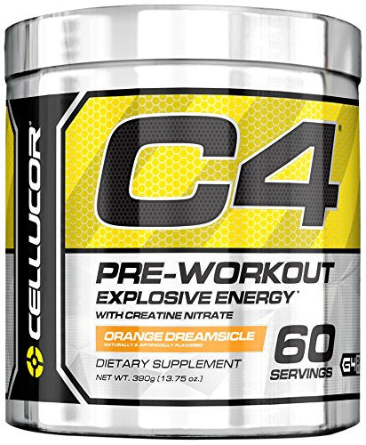 Cellucor C4 Explosive Preworkout, 60 Servings Orange Dreamsicle