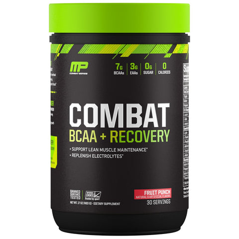 MusclePharm Combat BCAA+Recovery 30 Servings, Fruit Punch