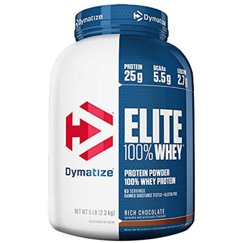 Dymatize Elite 100% Whey Protein, 5 lb Rich Chocolate