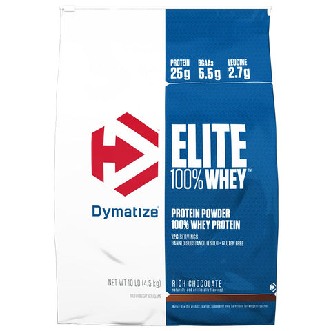 Dymatize Elite 100% Whey Protein Powder, Rich Chocolate, 10 lb
