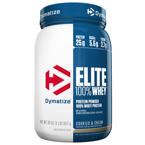 Dymatize Elite 100% Whey Protein Powder, 2 lb, Cookies & Cream