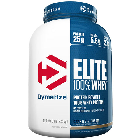 Dymatize Elite 100% Whey Protein Powder, Cookies & Cream, 5 lb