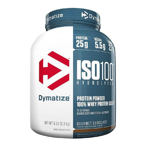 Dymatize ISO-100 Hydrolyzed Isolate Protein, 5 lb Gourmet Chocolate