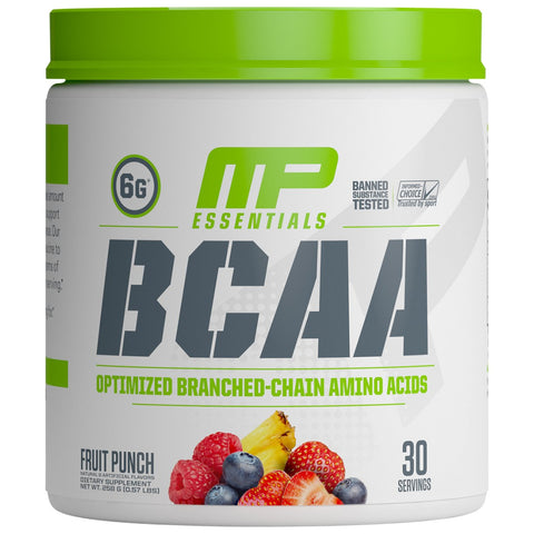 MusclePharm Essential BCAA 30 Servings Fruit Punch, Optimized Branched-Chain Amino Acids