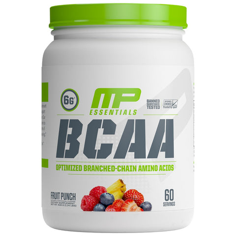 MusclePharm Essential BCAA 60 Servings Fruit Punch, Optimized Branched-Chain Amino Acids