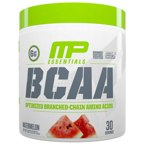 MusclePharm Essential BCAA 30 Servings Watermelon, Optimized Branched-Chain Amino Acids