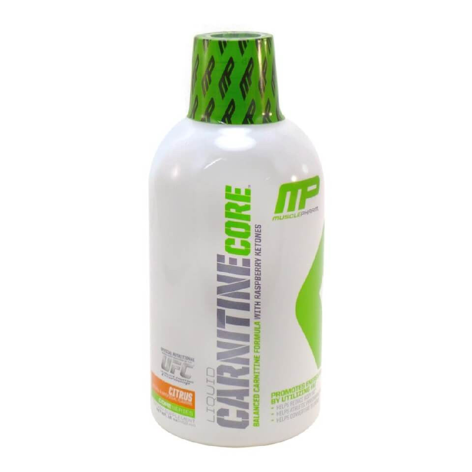 Muscle Pharm Carnitine Core Liquid Diet Supplement, Citrus, 30 Servings 16 oz 473ml