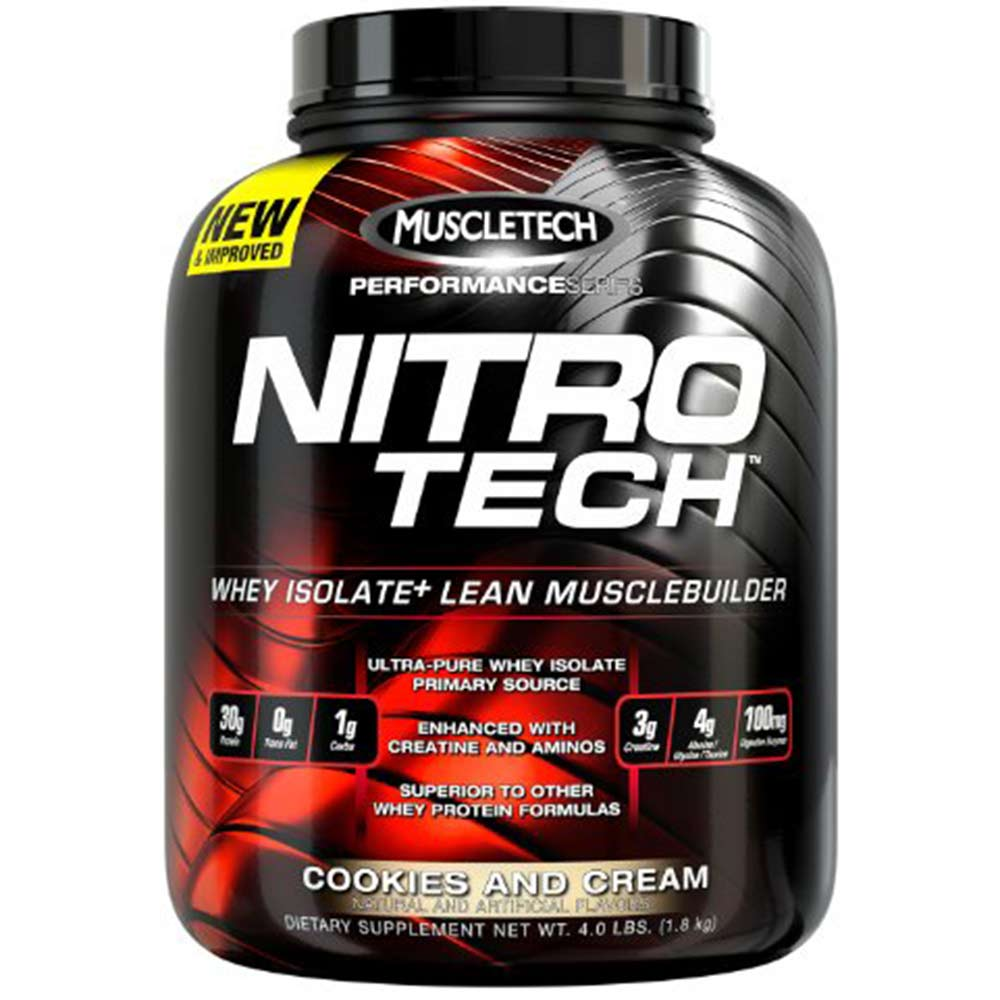 MuscleTech NitroTech Performance Series, 3.97 lb Cookies & Cream