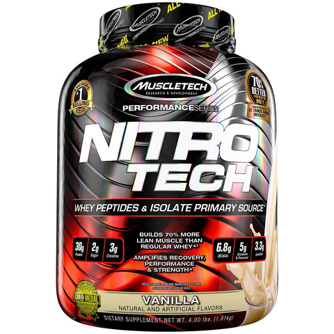 MuscleTech Performance Series NitroTech 4 lbs, Vanilla