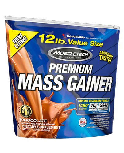 MuscleTech Premium Mass Gainer 12 lbs 5.44 kg Chocolate