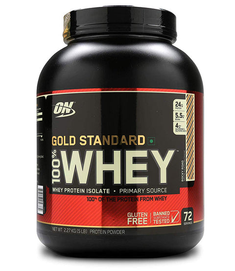 Optimum Nutrition (ON) Gold Standard 100% Whey Protein Powder - 5 lbs, 2.27 kg Rocky Road