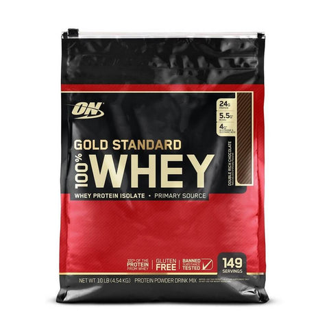 ON (Optimum Nutrition) Gold Standard 100% Whey Protein 10 lb Double Rich Chocolate