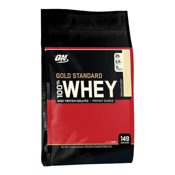 ON (Optimum Nutrition) Gold Standard 100% Whey Protein 10 lb Vanilla