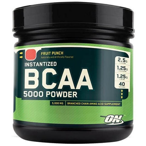 ON (Optimum Nutrition) Instantized BCAA 5000, 380 Gram Fruit Punch