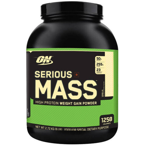 ON (Optimum Nutrition) Serious Mass, 6 lb Vanilla High Protein Weight Gain Powder