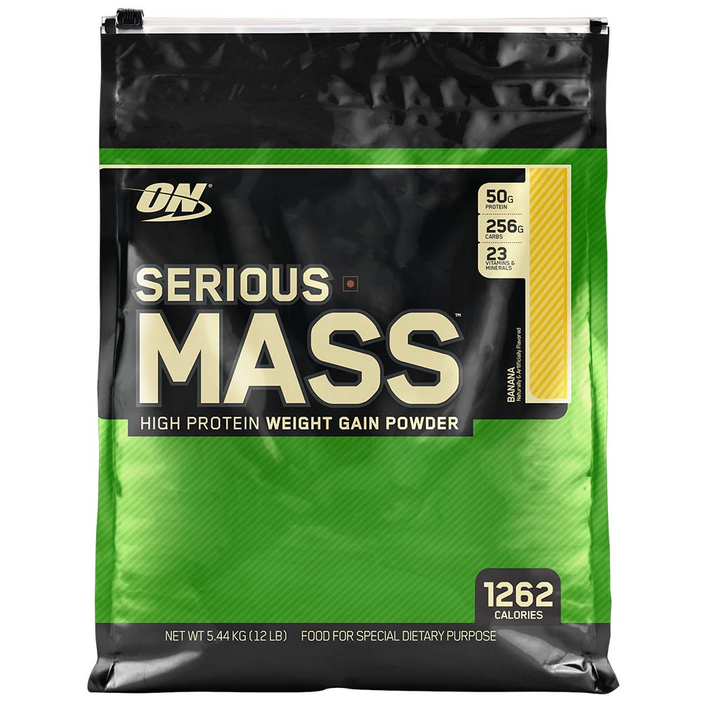 ON (Optimum Nutrition) Serious Mass, 12 lb Banana High Protein Weight Gain Powder