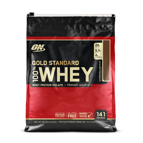 ON (Optimum Nutrition) Gold Standard 100% Whey Protein 10 lb Extreme Milk Chocolate