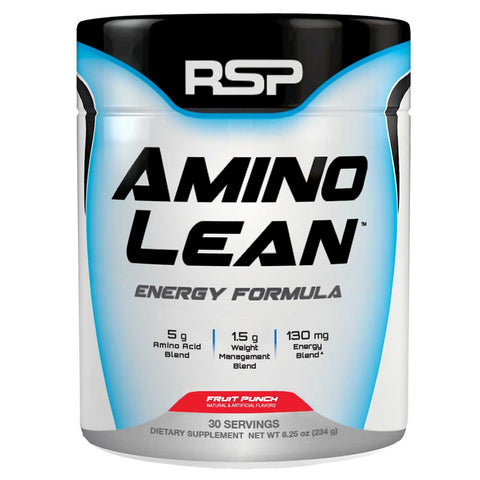 RSP Nutrition Amino Lean, 234 G Fruit Punch (Energy & Weight Loss Formula)