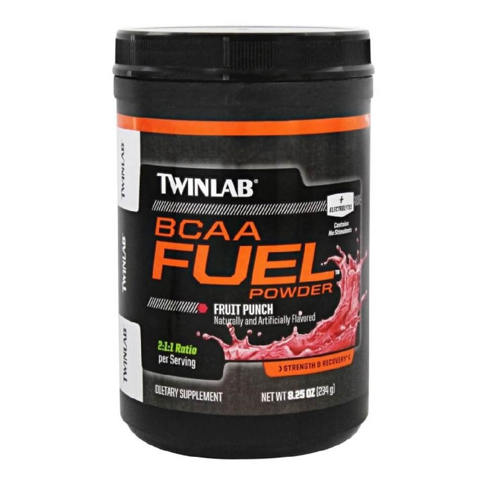 TWINLAB BCAA Fuel Powder, 0.51 lb Fruit Punch