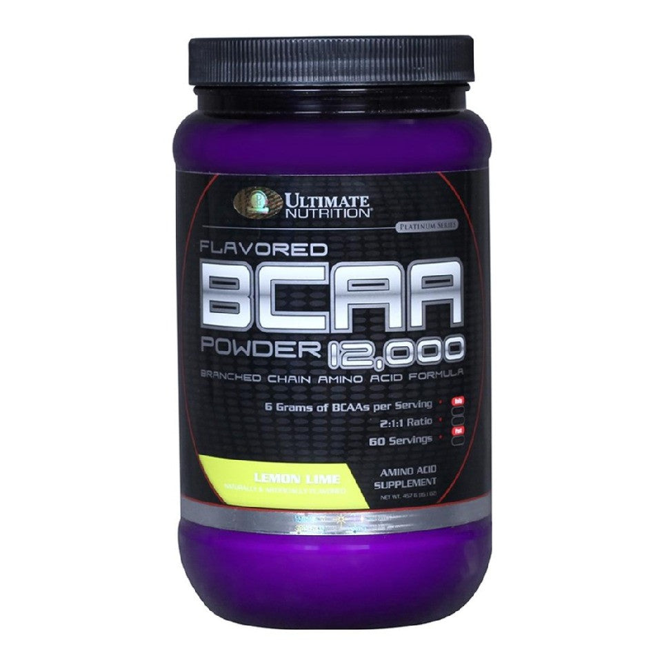 Ultimate Nutrition BCAA Powder, 1 lb Lemon Lime