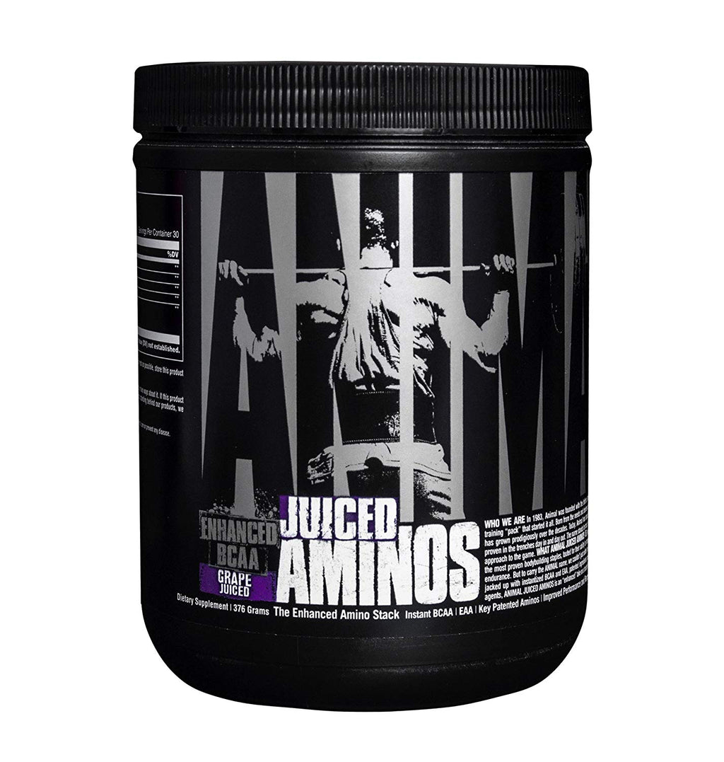 Universal Nutrition Animal Juiced Aminos Enhanced BCAA and EAA Instantized Amino Acid Supplement, Grape, 30 Servings