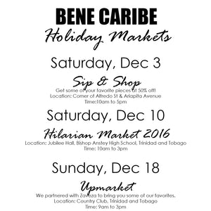 Bene Caribe is Going to Market