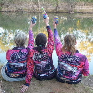 Cheers to the Weekend Fishing Shirt - Hunting Pink Camo