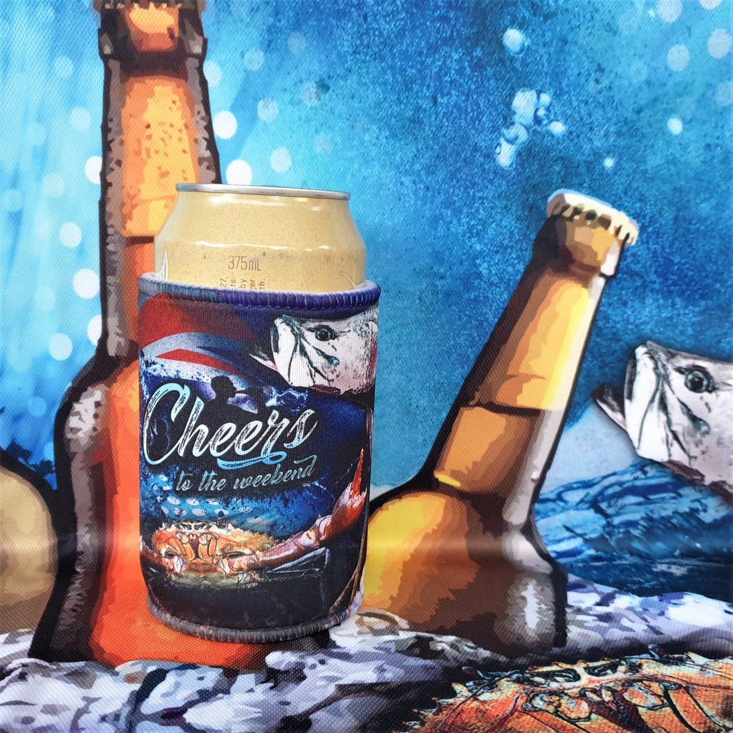 Cheers to the Weekend Barramundi Cooler - Blue