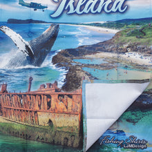 Load image into Gallery viewer, Fraser Island Tea Towel - Blue