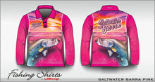 Load image into Gallery viewer, Saltwater Barra - Pink Fishing Shirt