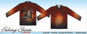 Cape York Discovery Fishing Shirt - Orange