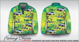 Fraser Island Fishing Shirt - Beers Bogs BBQ