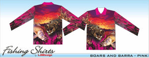 Boar Barra Fishing Shirt