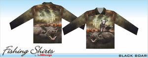 Black Boar Fishing Shirt