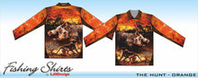 Load image into Gallery viewer, The Hunt Orange Fishing Shirt