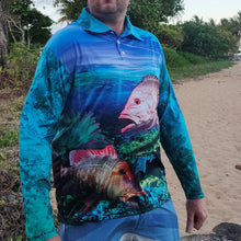 Load image into Gallery viewer, Coral Reef Colour - Blue Fishing Shirt