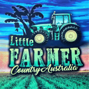 Little Farmer Fishing Shirt - Tractor Cattle