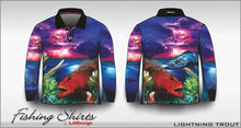 Load image into Gallery viewer, Lightning Coral Trout Fishing Shirt