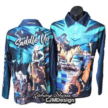 Load image into Gallery viewer, Saddle Up Rodeo Fishing Shirt