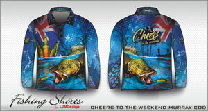 Cheers to the Weekend Fishing Shirt - Murray Cod