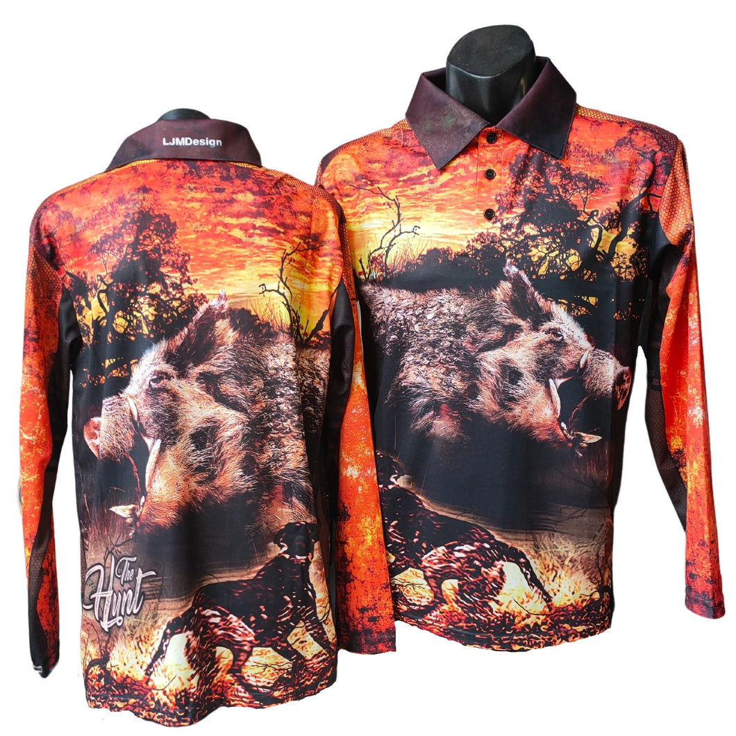 The Hunt Orange Fishing Shirt
